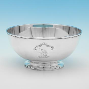 L0291: Antique Sterling Silver Bowl - Robert Hennell Hallmarked In 1788 London - Georgian - Image 1