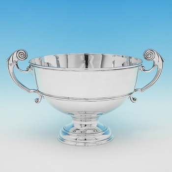 L0593: Antique Sterling Silver Bowl - J. W. Benson Ltd.  Hallmarked In 1900 London - Victorian - Image 1