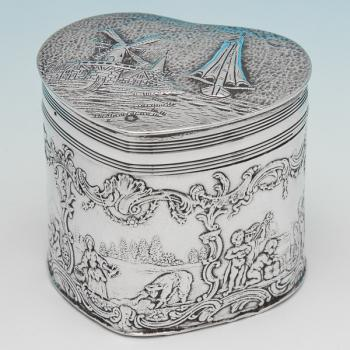 B6407: Antique Sterling Silver Box - Berthold Muller Hallmarked In 1905 London - Edwardian - Image 1