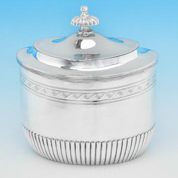 B7675: Antique Sterling Silver Tea Caddies - Henry Stratford Hallmarked In 1882 Sheffield - Victorian - Image 1