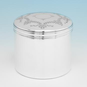 B9933:  Sterling Silver Dressing Table Jar - W & Co. Hallmarked In 1920 London - George V - Image 1