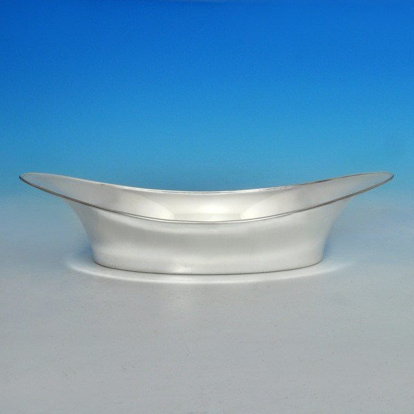 j6704: Sterling Silver Bread Dish - Henry Atkins Hallmarked In 1930 Sheffield - George V  - image 1