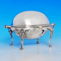 B1208: Antique Silver Plate Revolving Top Butter Dish - James Dixon & Sons Made Circa 1890 Unknown - Victorian - Image 1