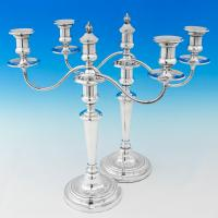 B5977: Antique Old Sheffield Plate Pair Of Candelabra - Nathaniel Smith, George Smith & James Creswick Hallmarked In 1806 Sheffi