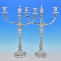 B7844: Antique Old Sheffield Plate Candelabra - Unknown Made Circa 1820 Unknown - Georgian - Image 1