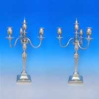 d1213: Antique Sterling Silver Pair Of Candelabra - J. K. Bembridge Hallmarked In 1881 Sheffield - Victorian - image 1