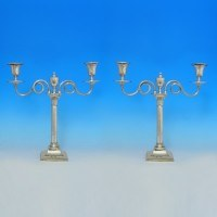 j0598: Antique Old Sheffield Plate Pair Of Candelabra - Circa 1780 - George III Georgian - image 1