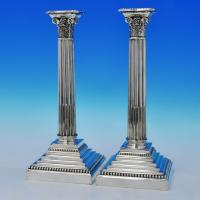 B2355: Antique Silver Plate Pair Of Candlesticks - Walker & Hall Made Circa 1880 Unknown - Victorian - Image 1