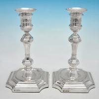 B4827: Antique Sterling Silver Candlesticks - Hawksworth Eyres & Co Hallmarked In 1900 Sheffield - Victorian - Image 1