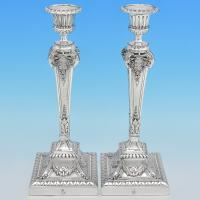 B7175: Antique Silver Plate Candlesticks - Elkington & Co. Made Circa 1875 Birmingham - Victorian - Image 1