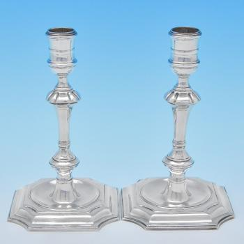 B7878:  Sterling Silver Pair Of Candlesticks - Unknown Hallmarked In 1969 London - Elizabeth II - Image 1