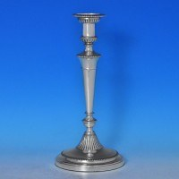 j7620: Antique Sterling Silver Candlestick - Charles Boyton & Sons Hallmarked In 1904 London - Edwardian - image 1