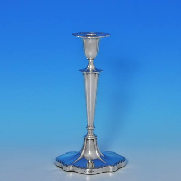 j8358: Antique Sterling Silver Pair Of Candlesticks - Walker & Hall Hallmarked In 1910 Sheffield - George V  - image 2