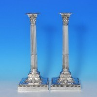 j8849: Antique Sterling Silver Pair Of Candlesticks - Turner Bradbury Hallmarked In 1900 London - Victorian - image 1