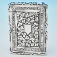 B6972: Antique Sterling Silver Card Cases - Fredrick Marson Hallmarked In 1879 Birmingham - Victorian - Image 1