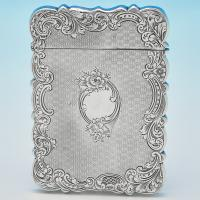 B6973: Antique Sterling Silver Card Cases - Thomas Dones Hallmarked In 1851 Birmingham - Victorian - Image 1