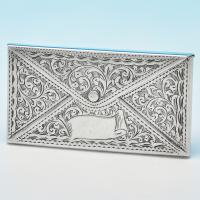 B7279: Antique Sterling Silver Card Cases - Adie & Lovekin Hallmarked In 1904 Birmingham - Edwardian - Image 1