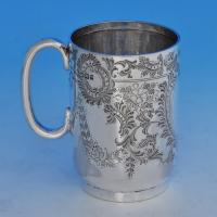 B1136: Antique Sterling Silver Christening Mug - Henry Atkins Hallmarked In 1895 Sheffield - Victorian - Image 1