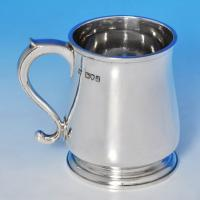 B1403: Antique Sterling Silver Christening Mug - J. Parkes & Co. Hallmarked In 1911 London - George V - Image 1
