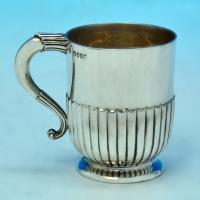 B1868: Antique Sterling Silver Christening Mug - Barnard Brothers Hallmarked In 1898 London - Victorian - Image 1