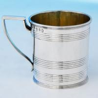 B1951: Antique Sterling Silver Christening Mugs - John Emes Hallmarked In 1805 London - Georgian - Image 1