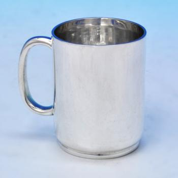 B2018: Antique Sterling Silver Christening Mug - Gibson & Langland Hallmarked In 1887 London - Victorian - Image 1