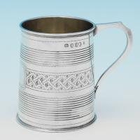 B8948p: Antique Sterling Silver Christening Mug - Duncan Urquart & Napthali Hart Hallmarked In 1809 London - Georgian - Image 1