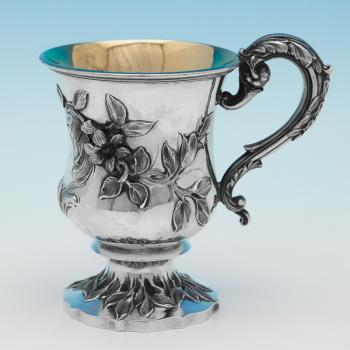 B9769: Antique Sterling Silver Christening Mug - Charles Fox Hallmarked In 1836 London - William IV - Image 1