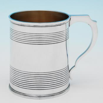 B9824: Antique Sterling Silver Christening Mug - George Knight Hallmarked In 1820 London - Georgian - Image 1