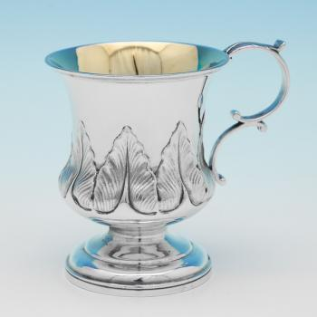 L0161: Antique Sterling Silver Christening Mug - Charles Fox Hallmarked In 1831 London - William IV - Image 1