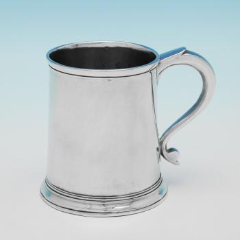 L0614: Antique Sterling Silver Christening Mug - Unknown Hallmarked In 1719 London - George I - Image 1