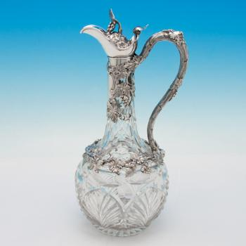 B5818: Antique Sterling Silver Claret Jug - Richards & Brown Hallmarked In 1862 London - Victorian - Image 5