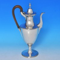 b0013: Antique Sterling Silver Coffee Pot - Thomas Daniell Hallmarked In 1787 London - George III Georgian - image 1