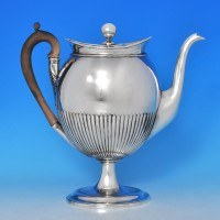 b0069: Antique Old Sheffield Plate Coffee Pot - Circa 1800 - George III Georgian - image 1