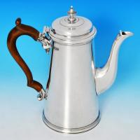 B1038:  Sterling Silver Coffee Pot - S. Garrard Hallmarked In 1948 London - George VI - Image 1