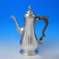 d0825: Antique Sterling Silver Coffee Pots - Hallmarked In 1765 London - George III Georgian - image 1
