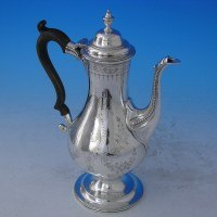 d2728: Antique Sterling Silver Coffee Pot - Hester Bateman Hallmarked In 1787 London - George III Georgian - image 1
