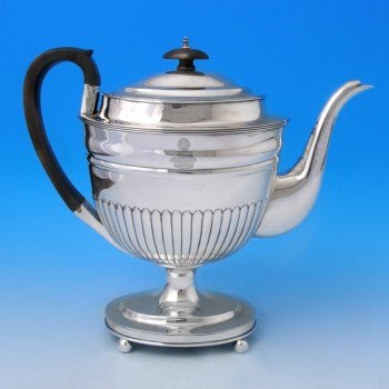 d9437: Antique Sterling Silver Coffee Pot - Charles Hollinshed Hallmarked In 1809 London - George III Georgian - image 4