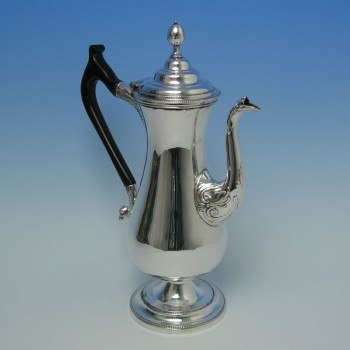 e3337: Antique Old Sheffield Plate Coffee Pots - Circa 1790 - George III Georgian - image 1