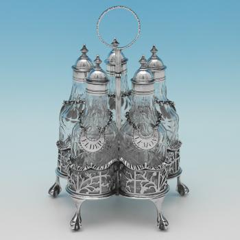 L0539: Antique Sterling Silver Condiment Set - Thomas Daniell Hallmarked In 1773 London - Georgian - Image 1