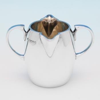 B9741: Antique Sterling Silver Cream Jug - Arthur Sibley Hallmarked In 1889 London - Victorian - Image 1