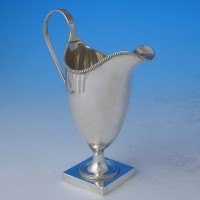 j0444: Antique Sterling Silver Cream Jug - Hester Bateman Hallmarked In 1784 London - George III Georgian - image 1
