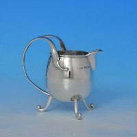 j8385: Antique Sterling Silver Cream Jug - Thomas Wilkinson & Sons Hallmarked In 1904 Birmingham - Edwardian - image 1