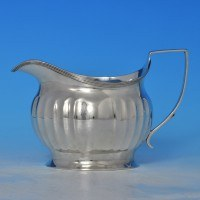 j8406: Antique Sterling Silver Cream Jug - Alexander Field Hallmarked In 1805 London - George III Georgian - image 1