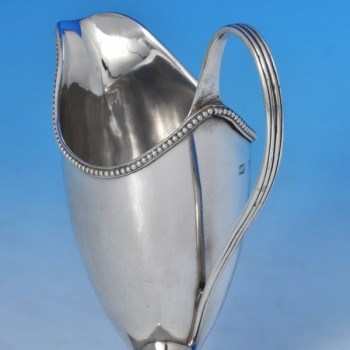 j8975: Antique Sterling Silver Cream Jug - Hester Bateman Hallmarked In 1783 London - George III Georgian - image 2