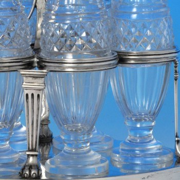j7124: Antique Sterling Silver Cruet Set - Paul Storr Hallmarked In 1799 London - George III Georgian - image 3