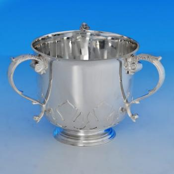 B1341:  Sterling Silver Loving Cup - Goldsmiths & Silversmiths Co. Hallmarked In 1937 London - George VI - Image 1