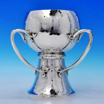 B1899: Antique Sterling Silver Cup - Wakely & Wheeler Hallmarked In 1903 London - Edwardian - Image 1