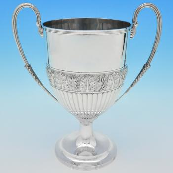 B6770a: Antique Sterling Silver Cups - Gibson & Langland Hallmarked In 1889 London - Victorian - Image 1
