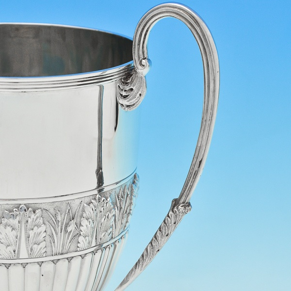 B6770a: Antique Sterling Silver Cups - Gibson & Langland Hallmarked In 1889 London - Victorian - Image 3